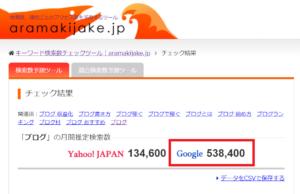 Google検索数の調べ方